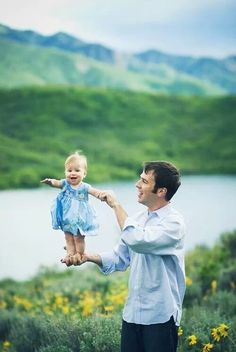 Daughter with her father
