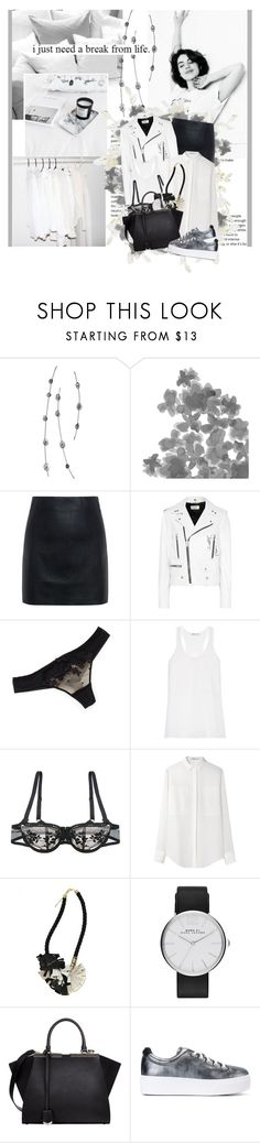 """""""Now my heart is calling, so caught up in you I wish I could carry you away"""" by winfreda ❤ liked on Polyvore featuring Kane, Shades of Grey by Micah Cohen, McQ by Alexander McQueen, Yves Saint Laurent, Chantelle, T By Alexander Wang, Elvira Sazesh, Marc by Marc Jacobs, Fendi and Kenzo"""
