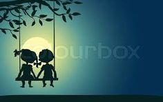 girl and dog on swing moonlight silhouette Girl And Dog, Moonlight, Silhouette, Dogs, Home Decor, Poster, Decoration Home, Room Decor, Pet Dogs