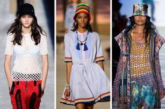 NYFW - BUCKET HAT - This 90s staple came back with a bang right at the beginning of fashion week at BCBG. The topper added a fun, youthful element to each look. We love a good throwback. From left to right: Alexander Wang, Tommy Hilfiger and BCBG Max Azria