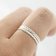 Sterling silver stacking ring Silver thin stacking ring Wire