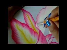 Pintura en tela orquídea rosa # 2 con cony