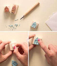DIY Stamped Stationery Set