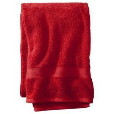 Threshold™ Solid Towels  Target  Red. For a black, white and red bathroom :)