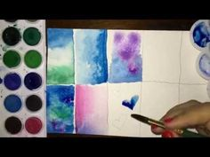 How to learn to paint watercolor step by step? rnrnSource by ursulaschoemann Step By Step Watercolor, Bullet Journal Notes, Learn To Paint, Art Auction, Art Tutorials, Watercolor Art, Watercolor Galaxy, Diy For Kids, Art Drawings