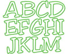 Here is a list of my applique alphabets and numbers - first just a list and then samples of each below - these are mostly just outline sampl...
