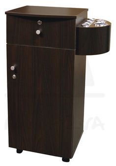 $209.00 Camden Mobile Styling Station in Walnut