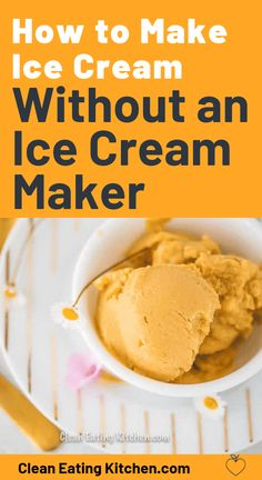 How to Make Ice Cream Without an Ice Cream Maker This post shares an easy tutorial for how to make homemade ice cream without an ice cream maker using a blender and your freezer. Paleo Ice Cream, Diy Ice Cream, Ice Cream At Home, Dairy Free Ice Cream, Ice Cream Maker, Ice Cream Recipes, Dairy Free Recipes, Whole Food Recipes, Paleo Recipes