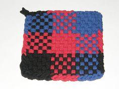 100 Cotton Loop Kitchen Potholder Black Blue Red | eBay
