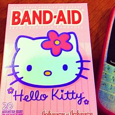 Something sweet for Hana... Hello Kitty band aid, from NOLA.