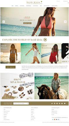 Discover a range of designer bikinis and beachwear from swimwear designer Heidi Klein.