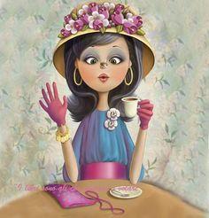 Nina de San Creation Photo, Animation, Jolie Photo, Marquis, Coffee Art, Coffee Shop, Illustrations, Cute Illustration, Love And Light