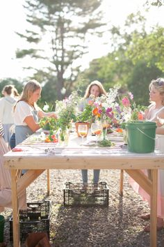Flower arranging: http://www.stylemepretty.com/living/2015/03/02/17-fun-party-themes-for-any-ocassion/