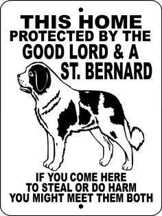 SAINT BERNARD ALUMINUM DOG SIGN GLSTB