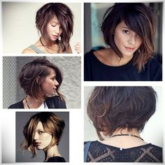 38 Short Layered Bob Haircuts With Side Swept Bangs That Make You Look Younger 38 coupes de cheveux Short Asymmetrical Haircut, Short Layered Bob Haircuts, Short Hair Cuts, Asymmetric Bob, Short Bobs, Medium Asymmetrical Hairstyles, Pretty Hairstyles, Bob Hairstyles, Curly Haircuts