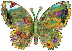 Monarch Meadow - 1000 piece shaped jigsaw puzzle. Finished size: 25 x 35. Artist: Alixandra Mullins. Released January 2013.Sunsout puzzles are 100% made in the USAEco-friendly soy-based inksRecycled boardsNot sold in mass-market stores
