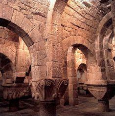 Cripta del monasterio de San Salvador de Leyre, #Navarra