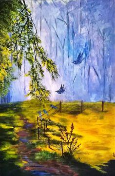 """Saatchi Art Artist Jos pascau; Painting, """"Meadow"""" #art"""