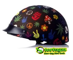 Tortugaz™ Universal Bicycle Skateboard Helmet Cover Protector Peace and Love