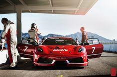 Ferrari Challage F430 Dream Racing Na frente Vermelho Carros