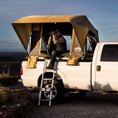 The ideal truck tent! Forget sleeping on the ground. Top off your truck bed with one of our low profile tent packages to take your camping to a new level. Super versatile with a simple set up time under 60 seconds, these fit a full size truck bed perfectly and adjust to varied heights to refine your view.