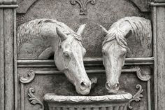 The Fountain Horses in the #SpruceMeadows Lower Plaza