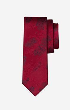 DA Bordowy krawat WÓLCZANKA - P2B6XJ9709