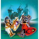 Playmobil Two Castle Knight Figures, 5815 by Playmobil USA Inc. $9.69. Figures include shields, Swords and Helmets. Limited time release, Two (2) Knight Figures. Blister Pack. Add these two regal knights to your castle. Limited time release. Collectible.