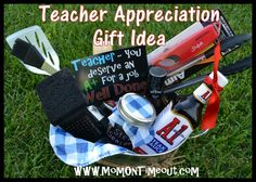 Teacher Appreciation Gift Idea - Grilling Kit ~ different than a basket of chocolate.