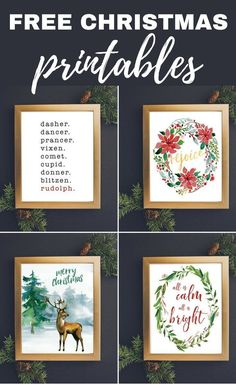 These free Christmas printables are a beautiful and easy way to add a touch of holiday joy to your home! Grab them for yourself or print them off and frame them for the perfect Christmas gifts for others! These free Christmas Merry Christmas, Perfect Christmas Gifts, Christmas Signs, Homemade Christmas, Christmas Projects, All Things Christmas, Christmas Holidays, Christmas Wreaths, Christmas Decorations