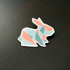 Nordic Origami Bunny Brooch by PaperAlphabet on Etsy,