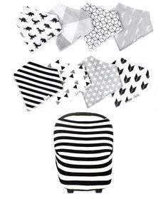 - Buy as bundle and save 15% (approx. $10.00 of savings) - Perfect gift set for baby showers and baby registries - Baby Girl Monochrome Bundle includes our Shade bib set, Wild bib set and Classic mult