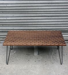 Hexacomb Walnut Coffee Table/Dining Table