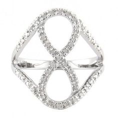 Sterling Silver Diamond Ring With Infinity