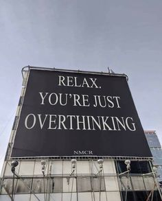 You're just overthinking Motivacional Quotes, Mood Quotes, Cute Quotes, Positive Quotes, Pretty Words, Beautiful Words, Cool Words, Wise Words, Photographie Indie