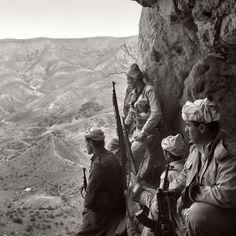Pêşmergeyên kurd li başûrê Kurdistanê.  Kurdish Peshmerga in southern Kurdistan.  © Arthur Bagen