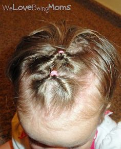 Toddler Hairstyles: a few cute ideas but not a lot of explanation on how to do them