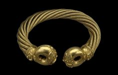 British Museum - Highlight objects: The Great Torc from Snettisham. Iron Age, about 75 BC. Found at Ken Hill, Snettisham, Norfolk, England.
