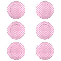 Pink Polka Dots Pack Of Small Button Covers Pink Polka Dots #pink #polka #dots #dots #pattern #girly cute...