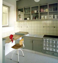 Margarete Schütte-Lihotzky (Austrian, 1897-2000). Frankfurter Küche (Frankfurt Kitchen). 1926-7. As illustrated in Das Neue Frankfurt 5 (1927).