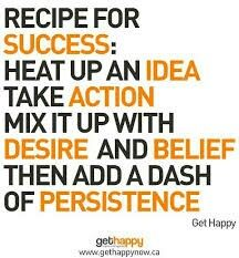 #recipe or #Ingredients for #success