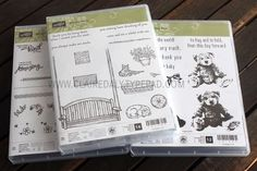 Stampin' Up! Sitting Here, Mixed Borders and Baby Bear stamp set. Sneak Peel from 2016 Stampin' Up! Annual Catalogue