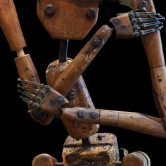 Detail - Articulated Wooden Skeletal Mannequin, via Obsolete Marionette Puppet, Puppets, Paper Dolls, Art Dolls, Artist Mannequin, Mannequin Heads, Plasticine, Tin Toys, Stop Motion