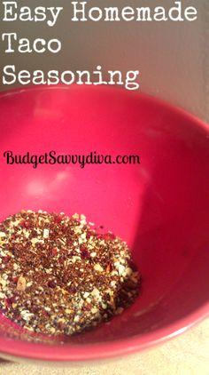 ■1 tablespoon + 1 teaspoon chili powder   ■1/2 teaspoon garlic powder   ■1/4 teaspoon onion flakes   ■1/4 teaspoon crushed red pepper flakes   ■pinch of cayenne pepper   ■1/2 teaspoon paprika   ■2.5 teaspoons ground cumin   ■1 teaspoon salt   ■1 teaspoon black pepper  Mix all ingredients together. Use 2 FULL Tablespoons of seasoning for 1 pound of beef.