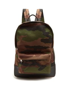 Mickael camouflage-print canvas backpack