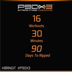 P90X3 - Extreme Home Fitness . . . Accelerated. Get ripped in 30 minutes a day! Click to order yours today! #p90x3 #beachbody