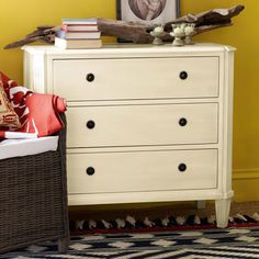 Gunnebo Small Chest of Drawers, White  for the twin room at end of bed?