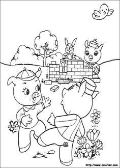 1000 images about les 3 petits cochons on pinterest - Coloriage les trois petit cochons ...