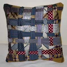 This one is sort of fun, if you picture blocks made like this with pieces woven in and out.