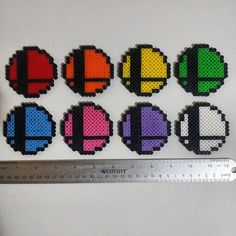 Super Smash Bros. Ball Logo Perler by CRPerlers on Etsy